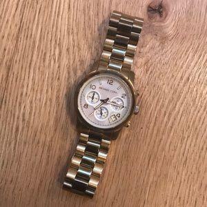 Gold Michael Kors Watch (needs battery)